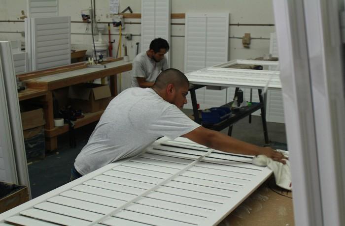 hand made shutters | San Diego