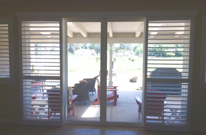 Patio Shutters | Open