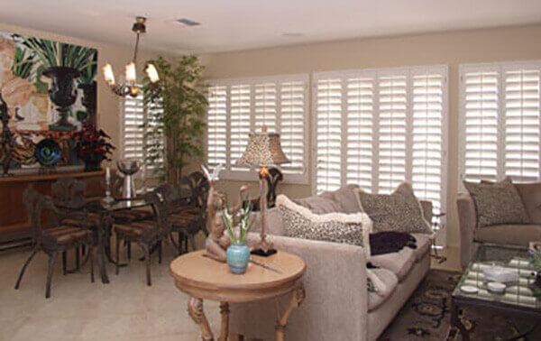 Custom Interior Shutters Living Room