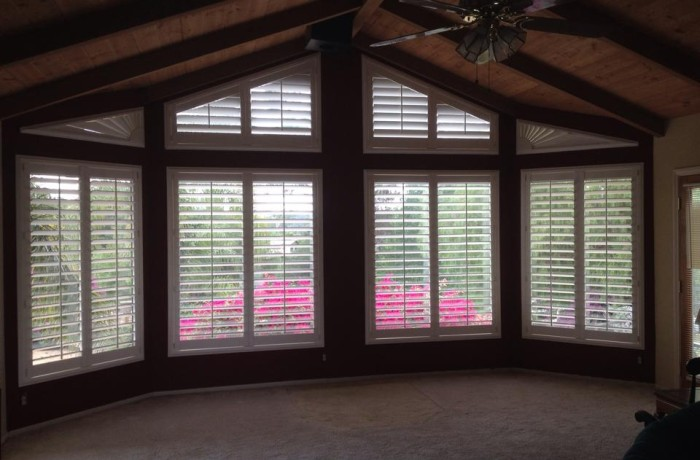 Wrap Around Window Treatment