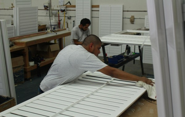 hand made shutters | San Diego